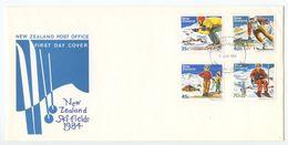 New Zealand 1984 FDC Scott 799-802 Skiing - FDC