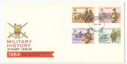 New Zealand 1984 FDC Scott 811-814 Military History 1901-1972 - FDC