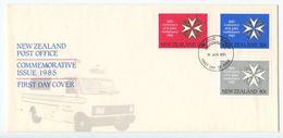 New Zealand 1985 FDC Scott 815-817 Centenary Of St. John Ambulance - FDC