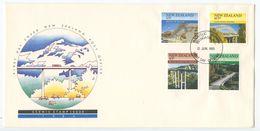 New Zealand 1985 FDC Scott 824-827 Bridges - FDC