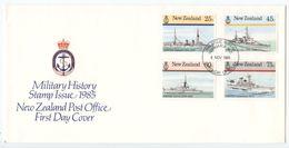 New Zealand 1985 FDC Scott 839-842 Navy Ships - FDC