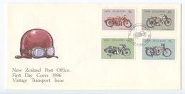 New Zealand 1986 FDC Scott 846-849 Motorcycles - FDC