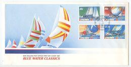 New Zealand 1987 FDC Scott 867-870 Blue Water Classics / Sailboat Races - FDC