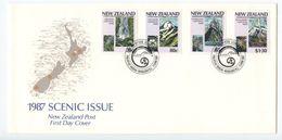 New Zealand 1987 FDC Scott 876-879 National Parks System Centenary - FDC