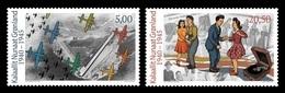 Greenland 2018 Mih. 805/06 Greenland During World War II (III). Aviation. Planes. Dances MNH ** - Groenland