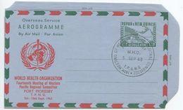 Papua New Guinea 1963 Aerogramme 14th WHO Meeting Of West. Pacific Committee - Papoea-Nieuw-Guinea