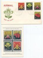 Papua New Guinea 1969 FDC Scott 287-290 Orchid Flowers - Papouasie-Nouvelle-Guinée