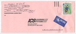 Papua New Guinea 1990's Airmail Cover Waigani To Scranton PA, Scott 896 Beetle - Papua New Guinea