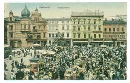 Katowice Kattowitz Wochenmarkt Ok 1910 R - Polonia