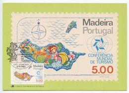 Portugal - Madeira 1980 FDC Maxicard Scott 70 Produce Map - Madeira