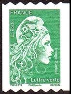France Marianne L'Engagée Autoadhésif N° 1601,** Roulette TVP Verte PRO - 2018-... Marianne L'Engagée