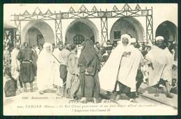 MAROC MAROKKO MOROCCO MARRUECOS CPA   TANGER - SI BEL GHAZI GOUVERNEUR ALLANT AU DEVANT L' EMPEREUR GUILLAUME II - Marrakech