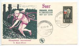 Saar 1955 FDC Scott 253 World Championship Cross Country Bicycle Race - FDC