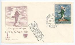 San Marino 1966 FDC Scott 653 Europa - Our Lady Of Europe - FDC