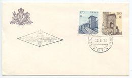 San Marino 1978 FDC Scott 922-923 Europa - San Francisco & Ripa Gates - FDC