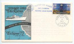 Senegal 1973 FDC Scott 388 Total Solar Eclipse Over Africa, Posted On Ship - Senegal (1960-...)
