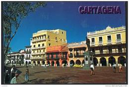 COLOMBIA - Cartagena Plaza De Los Coches - Stamps Timbre (2 Scans) - Colombie
