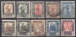 LIBIA (COLONIA ITALIANA) - Lotto Di 10 Valori Usati: Yvert 45/51, 53, 60 E 61, Come Da Immagine. - Libyen