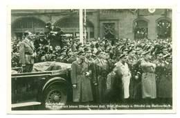 II Wojna WWII - Fuhrer In Saar 1935 - Hitler Hess Frick Goebbels - Guerra 1939-45