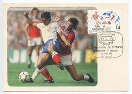 Spain 1982 Postcard World Cup Soccer '82 England Vs. France, Scott 2293 - Wereldkampioenschap