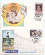 St. Vincent, Grenadines 1986 2 FDCs 60th Birthday Of Queen Elizabeth II - St.Vincent & Grenadines