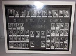 SCUOLA TECNICA COMM.LE P. GIURIA SAVONA 1952/53 B/N VINTAGE - Persone Identificate