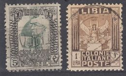 LIBIA (COLONIA ITALIANA) - Lotto Di 2 Valori Usati: Yvert 46a E 53a, Come Da Immagine. - Libia
