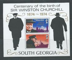 South Georgia 1974 Churchill Memorial Miniature Sheet MNH - South Georgia