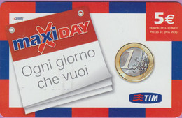 Télécarte Prépayée °° Tim - Italie - 5 € - MaxiDAY - RV. - Italie