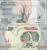 Madagascar 2017 - 200 Ariary - Pick NEW UNC - Madagascar