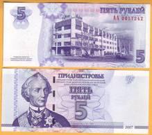 2007 Moldova ; Moldavie ; Moldau  Transnistria.  5 RUB   0017242 UNC - Moldavie