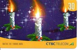 Télécarte Brésil Noël - Merry Christmas - Bougie  Phonecard  (G 20) - Noel