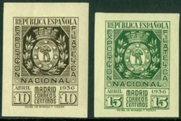 SPAIN 1936 MADRID PHILATELIC EXPO** (MNH) - 1931-Aujourd'hui: II. République - ....Juan Carlos I