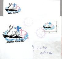 FS VENTOSE Enveloppe Imprimée Meilleurs Voeux 2012 Avec Bristol Et TP Personnalisé Correspondants Obl. Fort De France Ma - Poste Navale