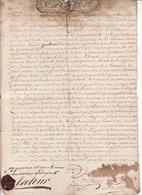 3 Juin 1734 Acte De Fixation Des Limites Foret De Saman Et Seigneur Sceau 2 Scans - Cachets Généralité