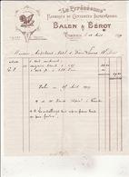 """""""La Pyrénéenne"""" Fabrique De Conseves Alimentaires Balen & Bérot TARBES  12 Aout 1919 - Alimentaire"""
