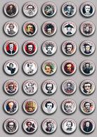 35 X Writer Edgar Allan Poe ART BADGE BUTTON PIN SET 2 (1inch/25mm Diameter) - Celebrities