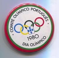OLYMPIC OLYMPIADE - Portugal Committee, Pin, Badge, Abzeichen, Brooch, D 55 Mm - Apparel, Souvenirs & Other