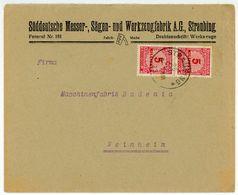 Nr. 317 A Paar Als MEF Schöner Brief Nach Weinheim - Briefe U. Dokumente