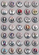 35 X Writer Edgar Allan Poe ART BADGE BUTTON PIN SET 3 (1inch/25mm Diameter) - Celebrities