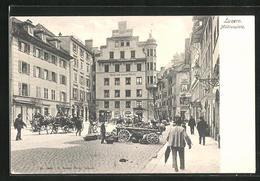 AK Luzern, Hotel Zum Weissen Rössli, Mühlenplatz - LU Luzern