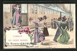 CPA Sainte Gauburge, J` Arrive Un Doux Baiser - France