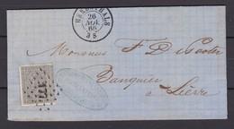 N° 17 / Lettre D HERENTHALS  (177 )  26 Nov. 1866 ( Lac ) - 1865-1866 Profil Gauche