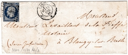 Lettre Paris 1856 Blangy Sur Bresle Seine Maritime Levaillant De La Fieffe Notaire - 1853-1860 Napoléon III