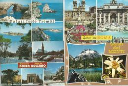 4 CARTOLINE  SALUTI DA ...  (104) - Cartoline
