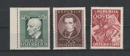 Mi. Nr. 941, 942, 946  Postfrisch - 1945-.... 2. Republik