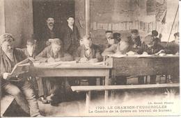 LE CHAMBON-FEUGEROLLES (42) Le Comité De La Grève En Travail De Bureau - Le Chambon Feugerolles