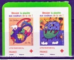 France  237 238 Croix Rouge Surt 0.18 Autoadhésifs Neuf ** TB MNH Sin Charnela Faciale 2.68 - Autoadesivi