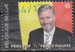 Belgique 2010 COB 4035 O Cote (2016) 3.00 Euro Le Prince Philippe A 50 Ans - België