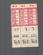 Grenoble (??)  Lot De 3 Tickets ( Tramway?) SGTE (PPP16573) - Tram